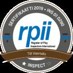 Mänguväljakute inspektori rahvusvaheline sertfikaat